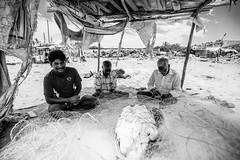 Chennai_Fishermans_village (Georg Dombrowski) Tags: life blackandwhite bw chennai schwarzweiss indien tamilnadu in swsw streetphotograhy