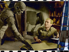 The Mummy (1932) (pippovio) Tags: color monster photoshop 1932 horror boris karl colored mummy freund karloff bey imhotep mummia ardath