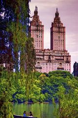 Central Park (Artypixall) Tags: nyc newyorkcity trees urban lake buildings cityscape centralpark getty womenrowingboat