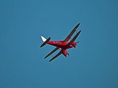 De Havilland Dragonfly DH60 G-AEDU Prestwick Airport (cmax211) Tags: de scotland airport dragonfly scottish blurred airshow prestwick pik lowcontrast ayrshire infocus havilland egpk dh60 mediumquality gaedu