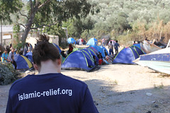 The Islamic Relief family is on the grounds in Greece trying to provide basic aid for refugees