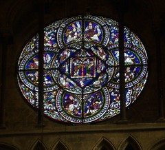 North Oculus Window, Canterbury Cathedral (Aidan McRae Thomson) Tags: window kent cathedral stainedglass canterbury medieval oculus rosewindow