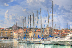 Marina at Marseille (Emily Starbug Photography) Tags: cruise france buildings boats marseille ship harbour 1855mm notre dame canon70d emilystarbug