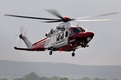G-CILN (1) (goweravig) Tags: uk swansea wales aircraft helicopter visiting sar hmcoastguard agustawestland aw139 swanseaairport gciln rescue187