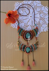 "Colar comprido ""Berbere"" (coleco Outono 2015) (GataPreta Artesanato) Tags: necklace handmade crafts bijuteria necklaces bijuterias bijuteriaartesanal statementnecklace maxicolar maxicolares"