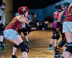 rebels_vs_panic_L3506464 1 (nocklebeast) Tags: ca usa santacruz rollerderby rollergirls zombies vampires skates organicpanic santacruzderbygirls redwoodrebels