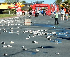 What's Left Behind (mikecogh) Tags: aftermath mess exercise cups rubbish activity walkers camdenpark citytobayfunrun