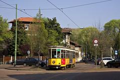 Peter Witt-Wagen 1835 am Piazza Aspari (Frederik Buchleitner) Tags: italien italy milan italia milano tram streetcar 1928 atm ventotto peterwitt 1835 mailand carrelli trambahn linie5 strasenbahn atmmilano tranviaria aziendatrasportimilanesi baureihe1500