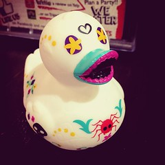 The Day of the Dead duckie. (peachy92) Tags: charmes chathamcountyga chathamcountygeorgia chatham savannah iphone chathamcounty 2015 instagram unclemaddiospizzajoint restaurant restaurants ducks duck rubberducks rubberduck duckie ducky rubberducky rubberduckies rubberduckie ga georgia us usa unitedstates unitedstatesofamerica iphone6 savannahgeorgia savannahga instagramapp iphoneography iphonegraphy square