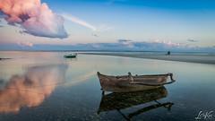 Low Tide (L.Charl de Klerk) Tags: ocean africa beach landscape boat flickr flight mozambique pps pemba flightc25c