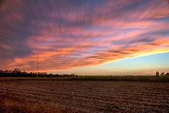 Field of Dreams (tquist24) Tags: longexposure pink sunset sky fall field clouds bristol geotagged evening corn nikon unitedstates farm harvest indiana hdr nikond5300