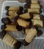 Finished biscuits - Viennese Fingers (Eljay) Tags: biscuit chocolatedipped viennesefingers