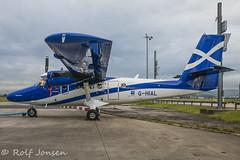 G-HIAL De Havilland Canada DHC6 Twin Otter Loganair Glasgow airport EGPF 09.10-15 (rjonsen) Tags: scotland airport glasgow twin otter loganair egpf
