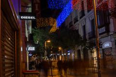 Calle Fuencarral. Dec2015 (PabloCano) Tags: madrid christmas street espaa night shopping lights navidad noche calle store spain december diesel hoss malasaa diciembre fuencarral intropia