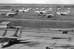 NAS Cecil Field, circa 1961. (skyhawkpc) Tags: airplane aircraft aviation navy douglas naval usnavy crusader usn 1961 vought skywarrior ac518 143772 ac505 142631 a3ba3d2 vah9hootowls f8af8u1 ak209 vah11checkertails ab608 138943 vf62boomerangs