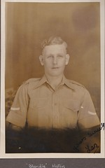 Blondie Hollis of the Leicestershire Regiment India 1930's (Bury Gardener) Tags: portrait india sepia portraits vintage soldier army 1930s asia military leicester oldies britisharmy