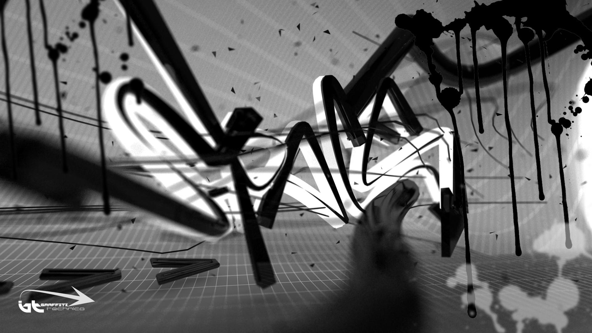 3d Graffiti Wallpaper Space Graffiti Technica