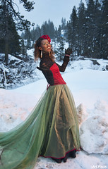 Let It Snow, Let it Snow (All About Light!) Tags: red snow black green fashion glamour models christmascolors snowprincess arthurkochphotography