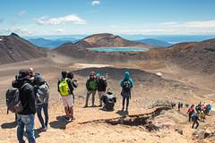 Tongariro Crossing (Andrea Schaffer) Tags: newzealand summer volcano december tongarironationalpark tongarirocrossing northisland aotearoa tramping bluelake neuseeland nieuwzeeland 2015  nouvellezlande   canonefs1755mmf28isusm tongariroalpinecrossing canoneos70d