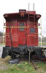 Belfast, Virginia (4 of 5) (Bob McGilvray Jr.) Tags: railroad red playground train private virginia parkinglot nw display steel tracks belfast caboose va norfolkwestern nickelplateroad 444 baywindow nkp 557544 belfastelementaryschool