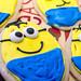 Minion sugar cookies