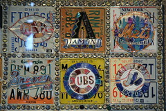 Quilt No. 2 detail (NJ Baseball) Tags: seattle art washington mariners safecofield licenseplates seattlemariners americanleague 2015 daygame majorleagues