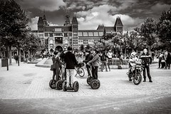 Segway meeting ~ Amsterdam (erikvdlinden) Tags: ifttt 500px amsterdam netherlands talking adult black white candid shot cloudy funny group people meeting segway street photography vehicle transportation system wheel city crowd road many motorcyclist man biker