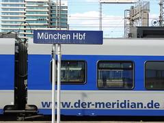 Munich Hauptbahnhof (with a Meridian Stadler Flirt 3 EMU) (Steve Hobson) Tags: munich hauptbahnhof meridian bob stadler flirt 3 emu