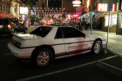 Official (Flint Foto Factory) Tags: las vegas nevada urban city early autumn fall 2016 annual trip vacation friends downtown fremontst night nocturnal evening friday n3rdst ladyluck hotel casino downtowngrand 1984 pontiac fiero official indy pace car indianapolis500 rear threequarter view sports generalmotors gm pawn shop bar saloon hogs heifers poncho 68th worldcars
