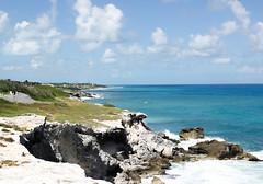 The Caribbean (Erick Flores Diaz) Tags: panorama beach sea ocean nature blue mexico cancun sky clouds green rock cliff