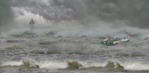 Temporal de mar (Composición)