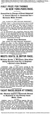 1908-08-04. Chicago Tribune. FIRST PRIZE FOR THOMAS IN NEW YORK-PARIS RACE (foot-passenger) Tags: protos august newyorkparis greatrace 1908     protest