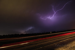 Lightning and Tail lights (TylerSchlittPhotography) Tags: may 2016 storms texas spider crawler lightning supercells photography chasing outdoors flickr