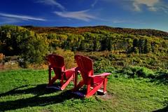 Parc national Forillon l'automne (pascal_roussy) Tags: automne couleur arbre chaise rouge montagne parcnationalforillon gaspsie qubec canada nature nikon d3100