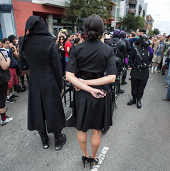 Liliane Hunt and The House of Hunt (Tyke Puppy) Tags: lilianehunt thehouseofhunt leather houseofhunt tykepuppy avantgarde performanceart folsom street fair lukesong fashion couture sanfrancisco ponyplay humananimals humanpony animalroleplay roleplay evilqueen beautifulpeople handsome women men sexandmetal gorgeous redhair mistress dominatrix sf