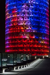 Torre Agbar (massimilianodelnoce) Tags: agbar barcelona spain night light colors nikon d3200 tamron city