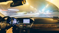 There's something inside you (przemyslawkrzyszczuk) Tags: drive poznan poland polska mercedes w212 e klasa klass city light citylights swiatla wiata noc night road droga benz driver kierowca