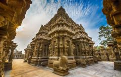 Kailasanathar Temple, Kanchipuram (Well-Bred Kannan (WBK Photography)) Tags: wbkphotography wbk wellbred kannanmuthuraman kannan nikon nikond750 d750 india indian weekendwalk incredibleindia travelphotography travel traveler msb madrasshutterbugs kanchipuram templecity temple kancheepuram god architecture pallava pallavadynasty departmentofarcheology heritage lordshiva sculpure painting limestone sivarathri mahasivarthri shivarathri shivartri tamron1530mmf28vsusd kailasanathartemple