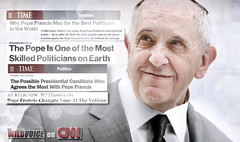 """False Prophet """"pope"""" Francis is the greatest politician in the world, according to the secular and anti-Christian media (The Wild Voice) Tags: httpsthewildvoiceorg thewildvoice pope francis popefrancis falseprophet false prophet catholic church satan oneworldreligion world religion vatican"""