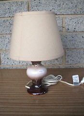 Emily Illuminates The World Lampshade (irecyclart) Tags: diy fabric refashion vintage