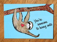 IMG_11112 (keila.dubois) Tags: sloth greeting card design art artwork animals animal digital print postcard