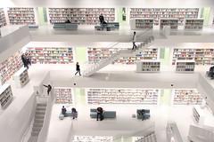 Stadtbibliothek (ƒliçkrwåy) Tags: stadtbibliothek stuttgart city library white building interior