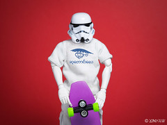 Less Extreme (XINYAW13) Tags: skateboard starwars stormtrooper threea toy toyphotography