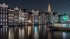 Harbour Lights (McQuaide Photography) Tags: amsterdam noordholland northholland netherlands nederland holland dutch europe sony a7rii ilce7rm2 alpha mirrorless 1635mm sonyzeiss zeiss variotessar fullframe mcquaidephotography adobe photoshop lightroom tripod manfrotto light licht night nacht nightphotography longexposure stad city capitalcity urban lowlight architecture outdoor outside old oud gracht grachtenpand canalhouse house huis huizen traditional authentic water reflection centrum gebouw building waterfront waterside canal colour colours color boat boot windows damrak travel traveldestination landmark famousplace tourism skyline 169 panoramic widescreen harbour harbor cityscape