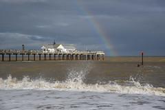 Rainbow pier (sarah_presh) Tags: southwold suffolk england coast pier sea seaside weather rainbow rain sun nikond750