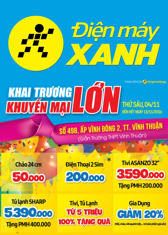 Khai trương siêu thị Điện máy XANH Vĩnh Thuận, Kiên Giang