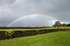 The green fields of England (Mikey Down Under) Tags: rainbow autumn grey england uk norfolk green fields hedges