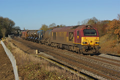 67024 Souldrop (Gridboy56) Tags: dbschenker db dbcargo souldrop bedfordshire england europe uk railways railroad railfreight rhtt mml trains train locomotive locomotives class67 67018 67024 toton westhampstead