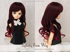 "FS: LullabyPoem wig / 7-8"" LPW011 Espresso+Wine (TURBOW) Tags: bjd doll balljointeddoll bluefairy tinyfairy tf chocolateolive msd"