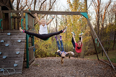 365 Project - Nov 4 (lupe1515) Tags: 365 project fall swing set straddle jump tricks neighbors addie olivia hannah